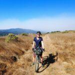 Bikepacker on Bolinas Ridge